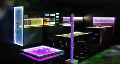 Glasdesignermöbel